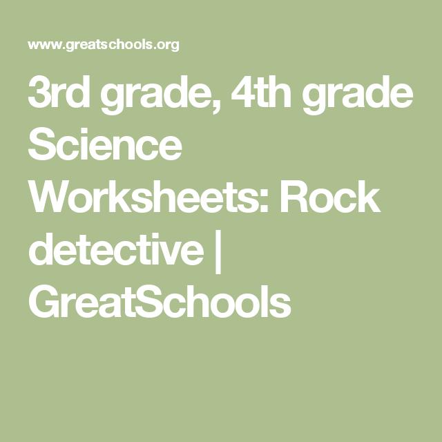 3rd Grade 4th Grade Science Worksheets Rock Detective Worksheets