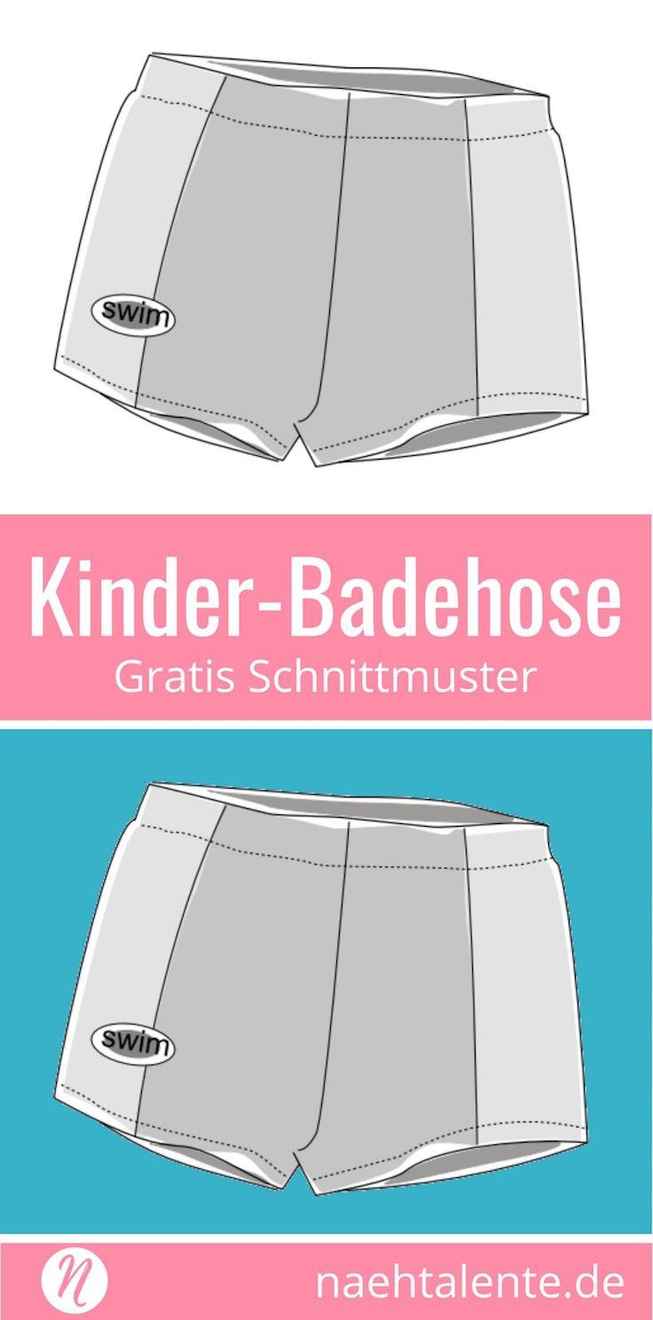 Badehose und Retroshorts für Jungs – Freebook | Badehose, Shorts und ...