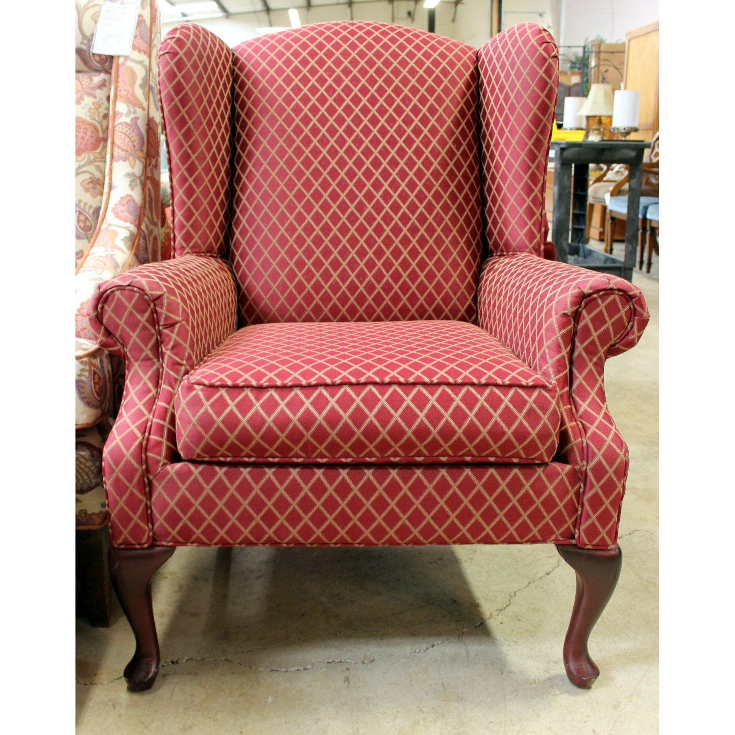 High Quality Consigned Red Wingback Accent Chair For Sale U2013 Upscale Consignment | Chairs  At UpscaleConsignment.com | Pinterest