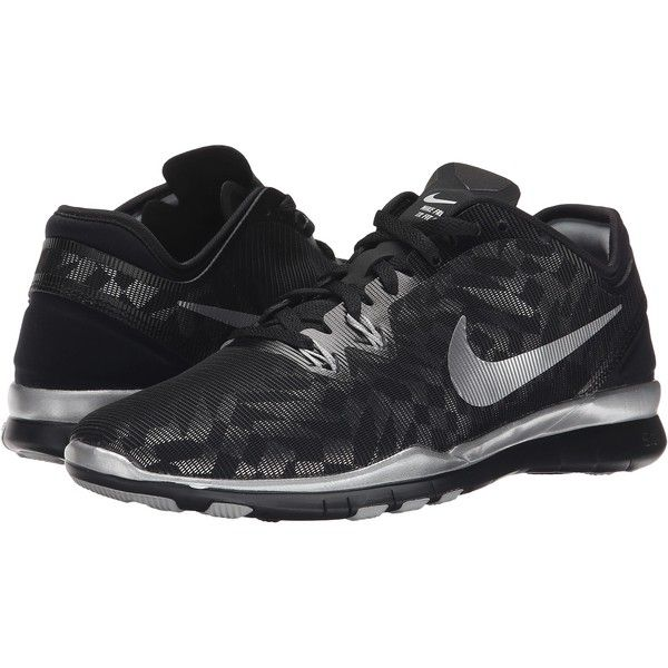 quality design 5bcdb 35ff1 Nike Free 5.0 TR Fit 5 MTLC Women's Cross Training Shoes, Black ($78) ❤  liked on Polyvore featuring shoes, athletic shoes, black, black lace up  shoes, ...