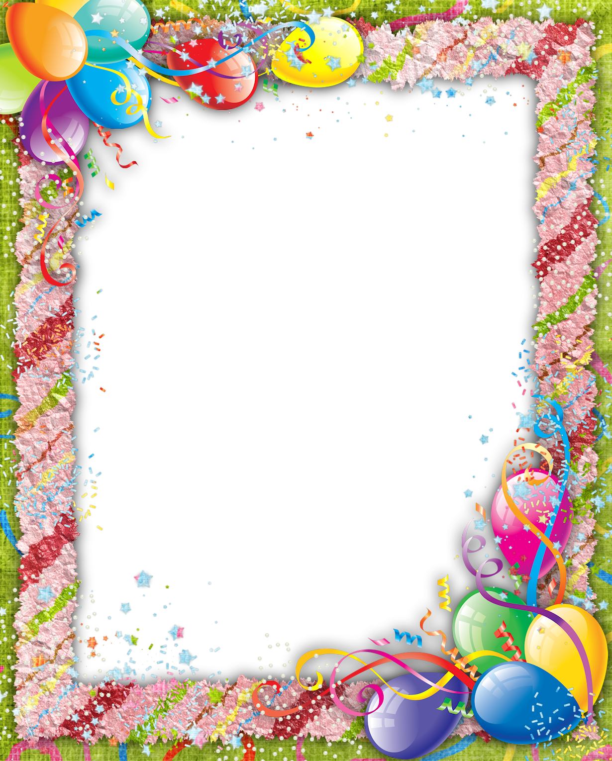 Transparent Birthday PNG Frame | marcos decorados | Pinterest ...