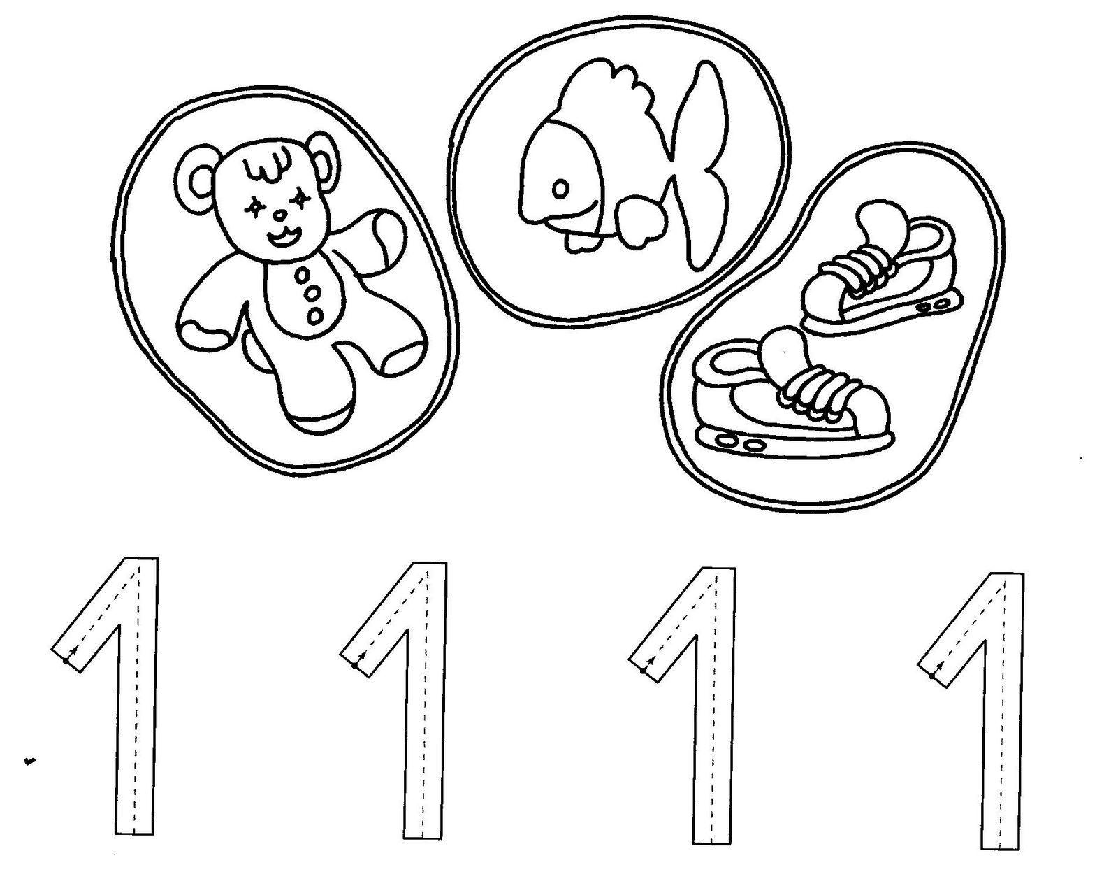 Fichas Infantiles: Fichas del número 1   zenbakiak   Pinterest ...