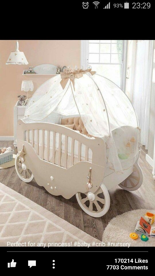 Such A Beautiful Baby Carrige Cot Perfect For A Fairytale Theme