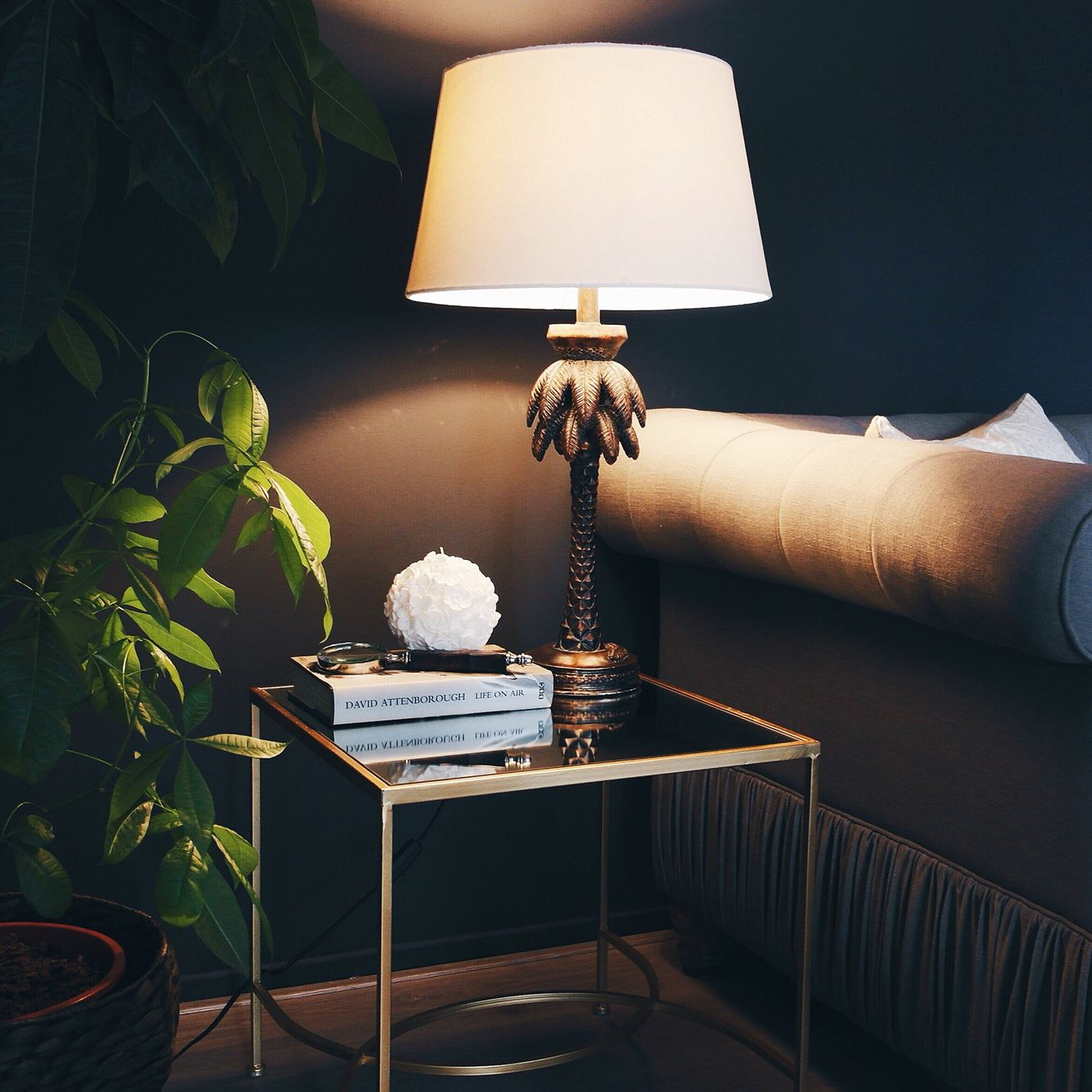 So pleased with my gold side table and banana leaf lamp from zara so pleased with my gold side table and banana leaf lamp from zara geotapseo Image collections