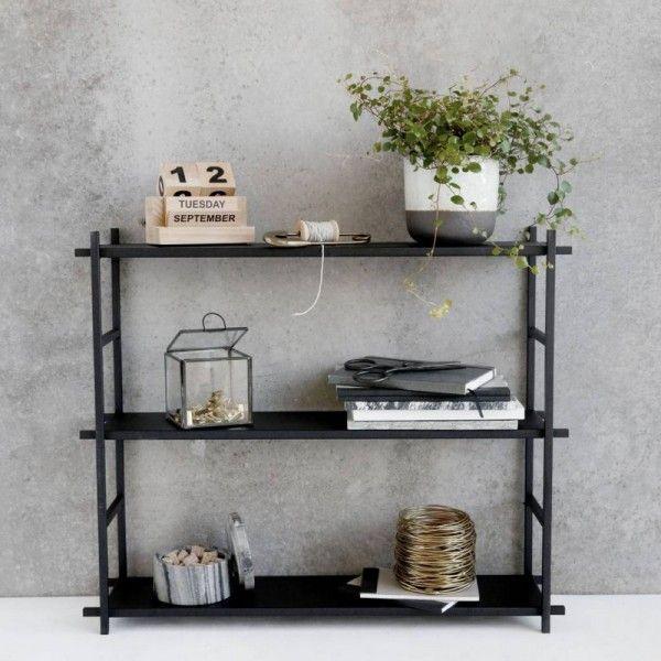 Etagère Métal Noir Style Industriel Scandinave House Doctor Simple