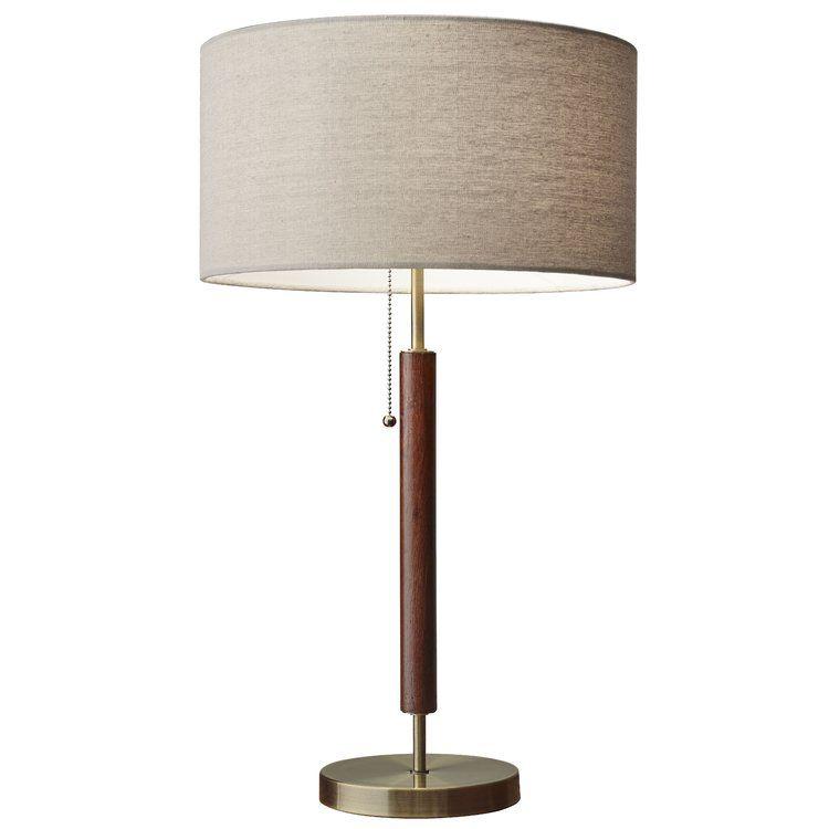 Allmodern Pamela 26 Walnut Table Lamp Mid Century Modern Table Lamps Modern Table Lamp Table Lamp