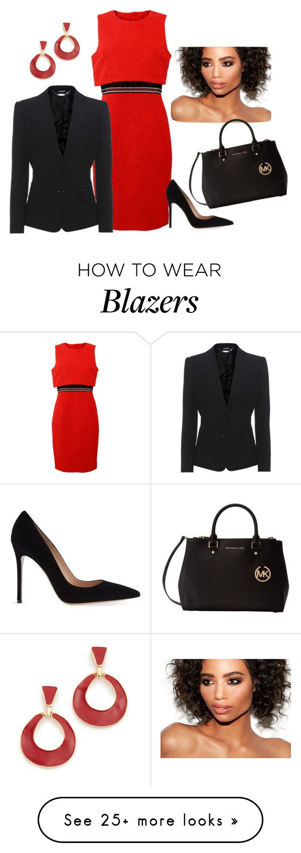 """""""Untitled #1533"""" by bsimon-1 on Polyvore featuring Oscar de la Renta, Gianvito Rossi, Alexander McQueen, Michael Kors and Kenneth Jay Lane"""