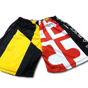 Maryland Flag Lacrosse Shorts Md Flag Shorts Sublimated Lacrosse Shorts American Flag Shorts Custom Lacrosse Lacrosse