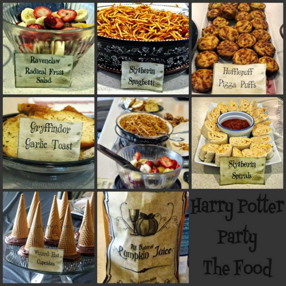 Harry Potter Party Part 2 - the food | harry potter | Pinterest ...