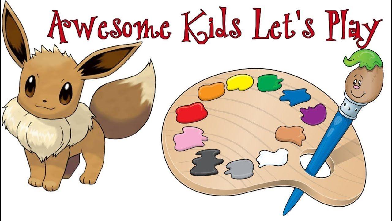 Pokemon Eevee Coloring Book | Learn Colors Pokemon | Eevee ...