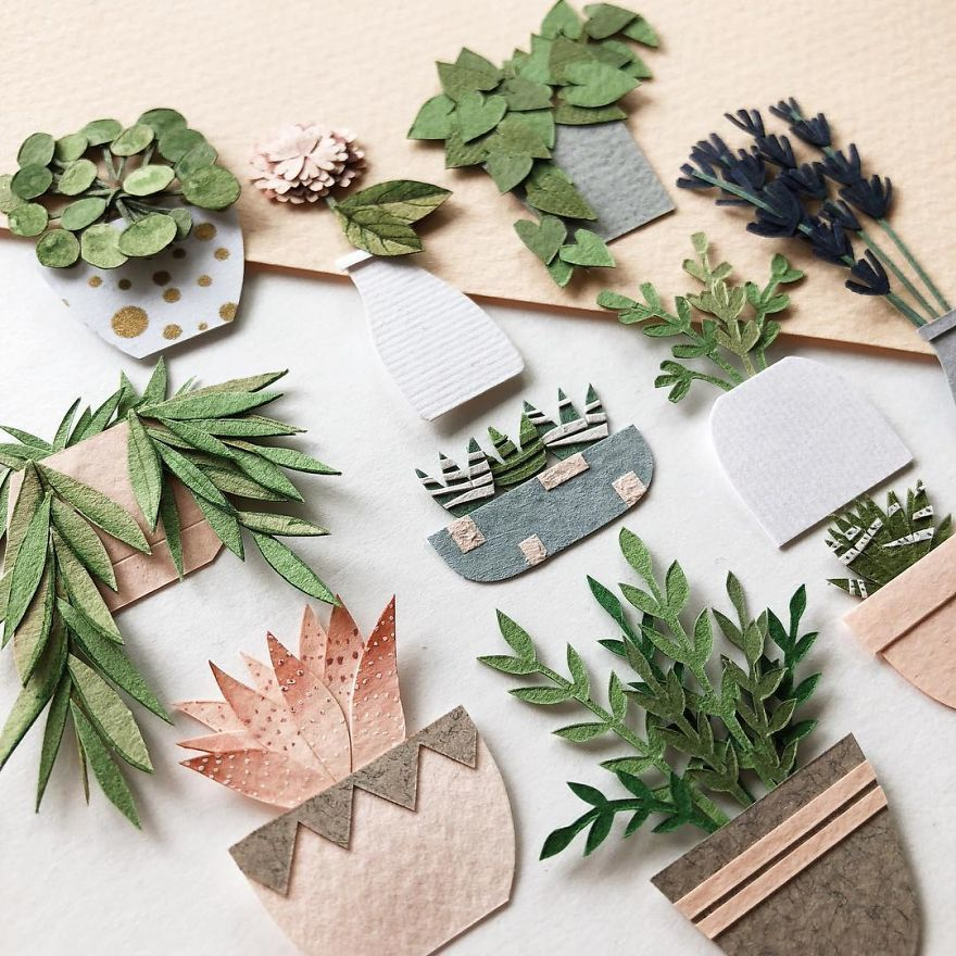 The Fleur of Paper Miniatures in the Cozy Plant World by Tania Lissova is part of Paper cutout art, Paper plants, Cut paper illustration, Paper artist, Paper sculpture, Paper cut art - The Fleur of Paper Miniatures in the Cozy Plant World by Tania Lissova   Журнал Ярмарки Мастеров о рукоделии, творчестве, дизайне  ✓Читай! ✓Узнавай! ✓Делись!