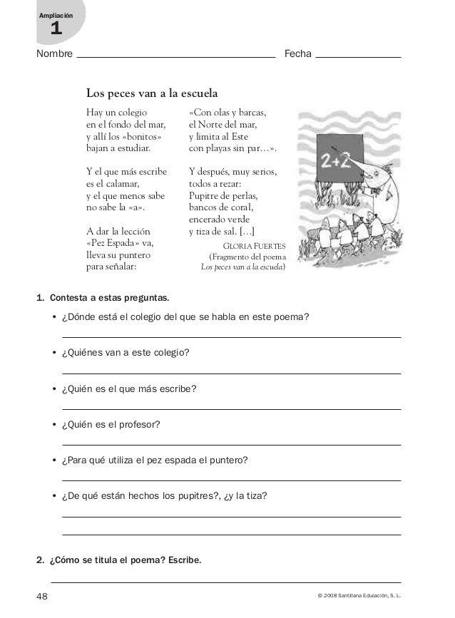 Lengua repaso y ampliación 3º primaria Santillana   AL   Pinterest ...