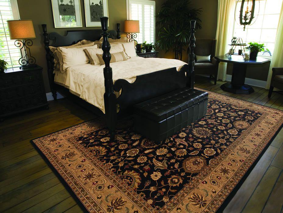 Comeron Oriental Tradtional Area Rug Master Bedroom Black ...