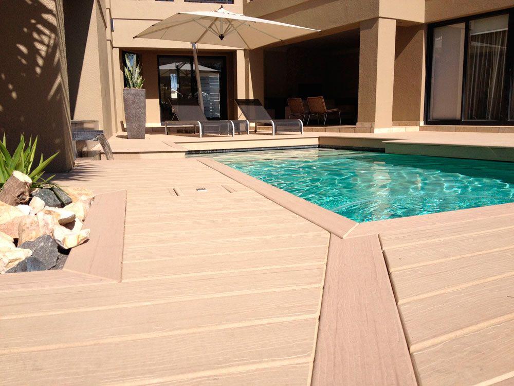 populardesign Swimming pool deep embossed decking is easy
