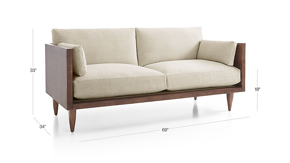 Sherwood Exposed Wood Frame Loveseat Reviews Crate And Barrel