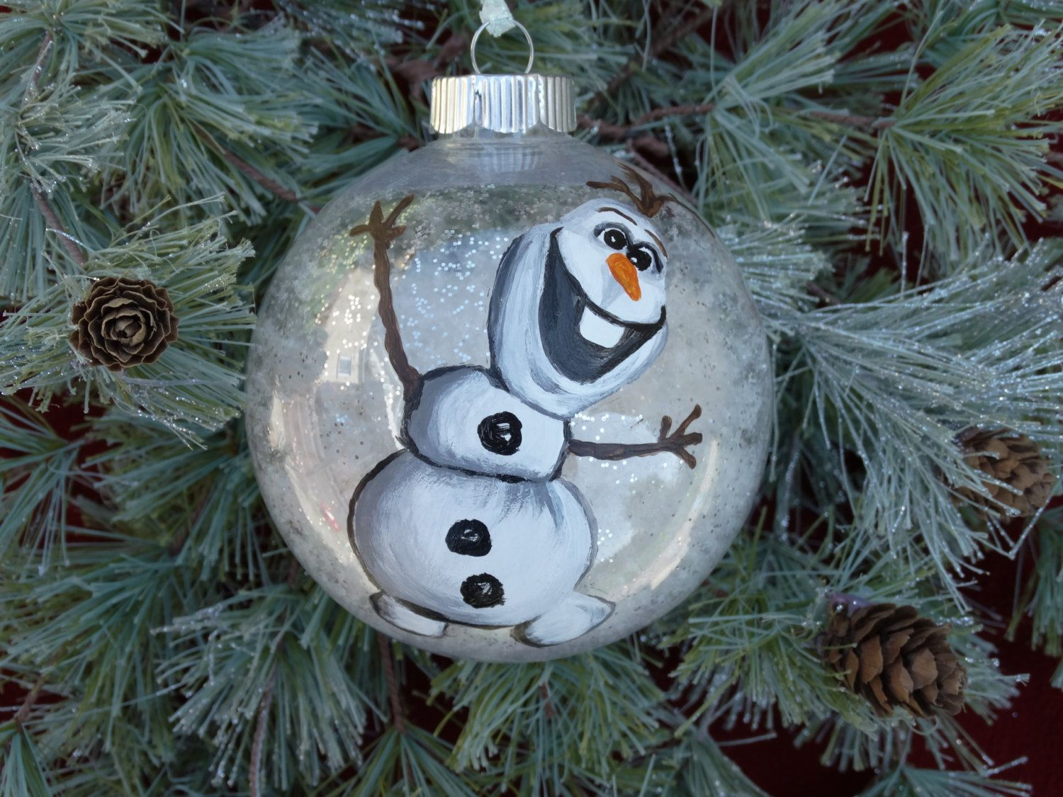 Frozen\'s Olaf the Snowman Hand Painted Christmas Ornament/Olaf ...