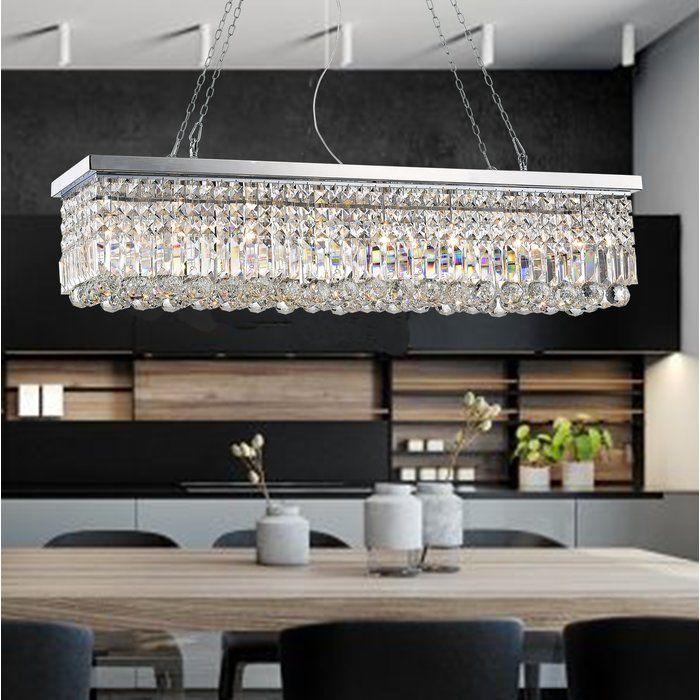 Gracelyn 8 Light Crystal Chandelier Kitchen Lighting Kitchen Island Pendants Crystal Chandelier