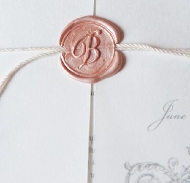 Brunch Wedding, Georgia Wedding, Wax Seals
