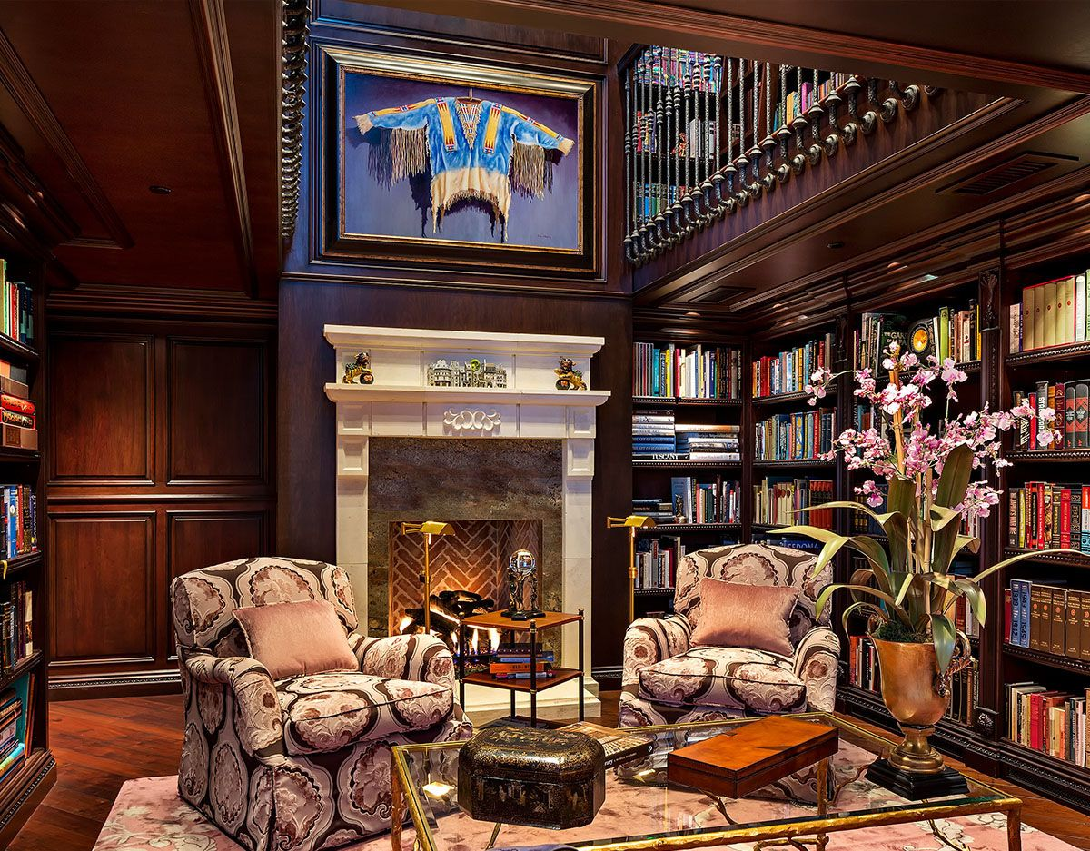 English style home library