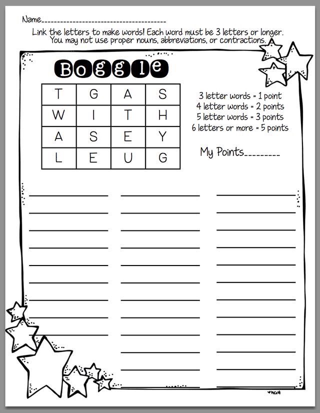 Boggle word activities pinterest taal en engels boggle expocarfo Image collections