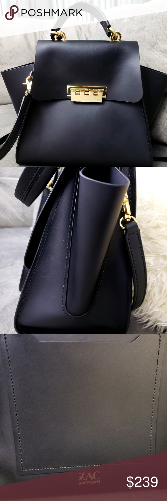 Zac Posen Black Eartha Bag Iconic Zac Posen Eartha Bag