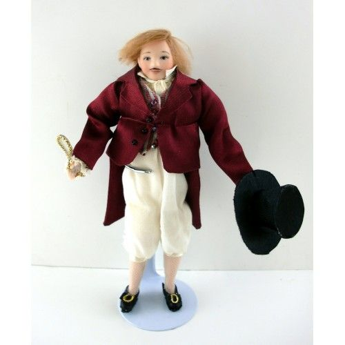 Dolls House Man Gentleman Father Miniature People 1:12 Scale Modern Porcelain