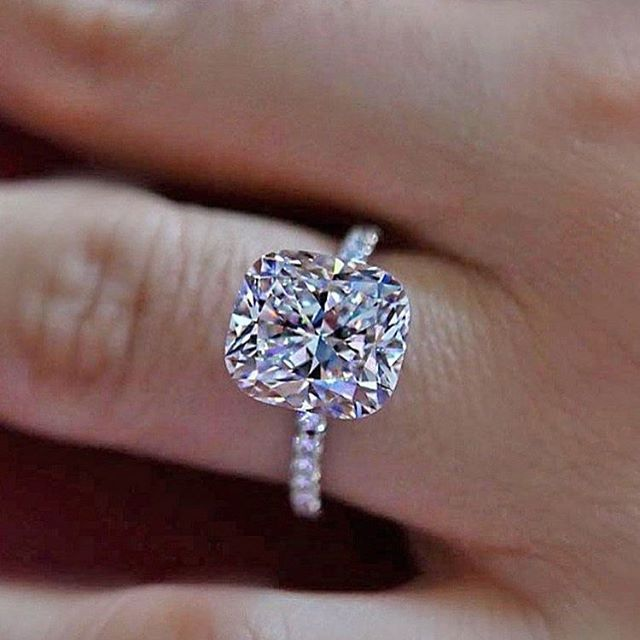 Cushion Cut Diamond Engagement Ring Engagementring Rings