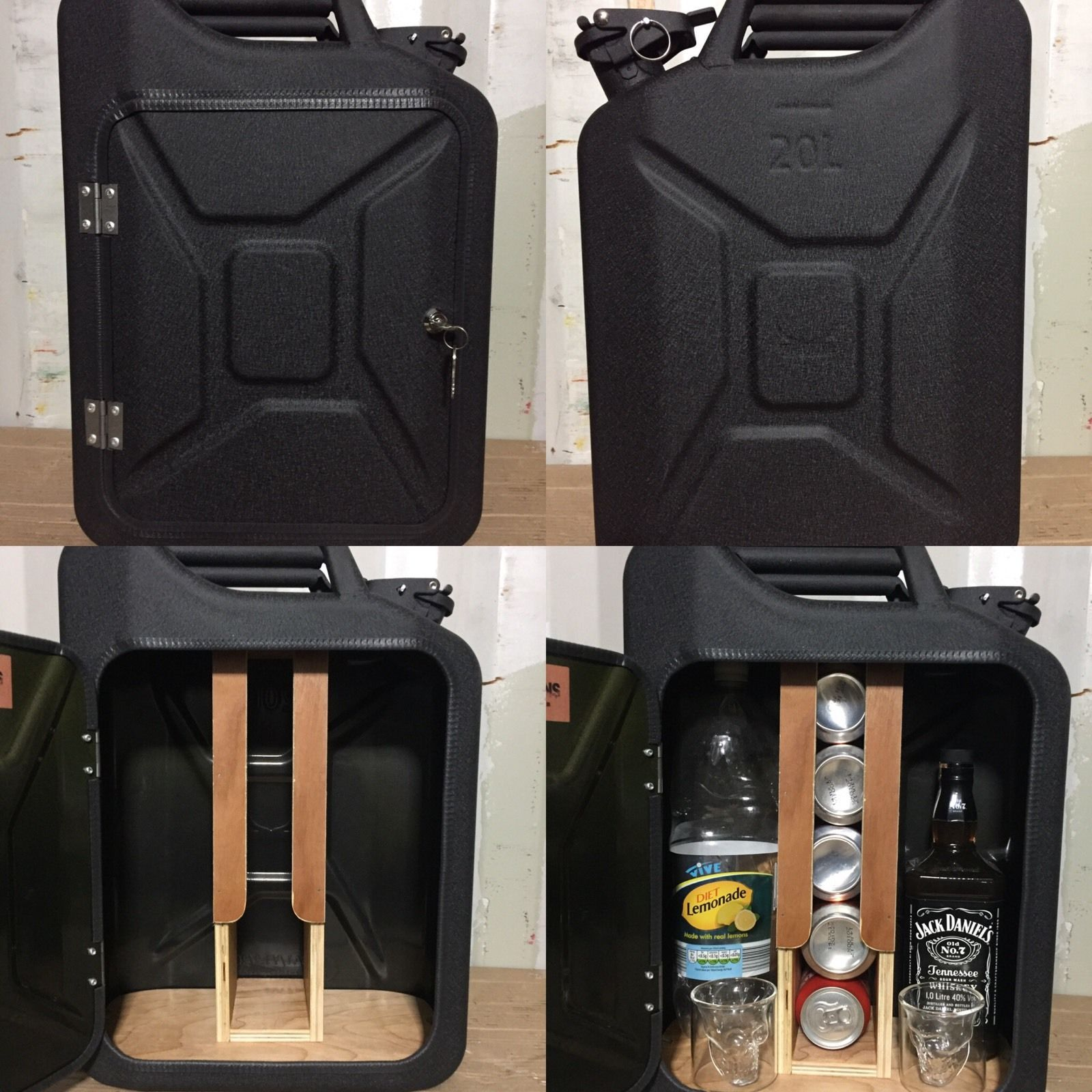 Recycled Drinks Cabinet New Camping Picnic Upcycled Jerry Can Mini Bar