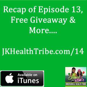n this episode we discuss our takeaways from Episode 13 with Ashley Chong. There were many powerful topics that were discussed. It was a pleasure to have Ashley on our show. She shared some amazing information on the power of raw foods and how you can inspire your family to eat healthier.  If you didn't get a chance to listen to Episode 13 you can get it at: http://jkhealthtribe.com/13