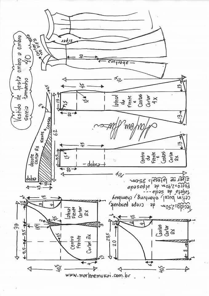 Pin de Juliana HM en vestidos | Pinterest | Patrones, Costura y Molde
