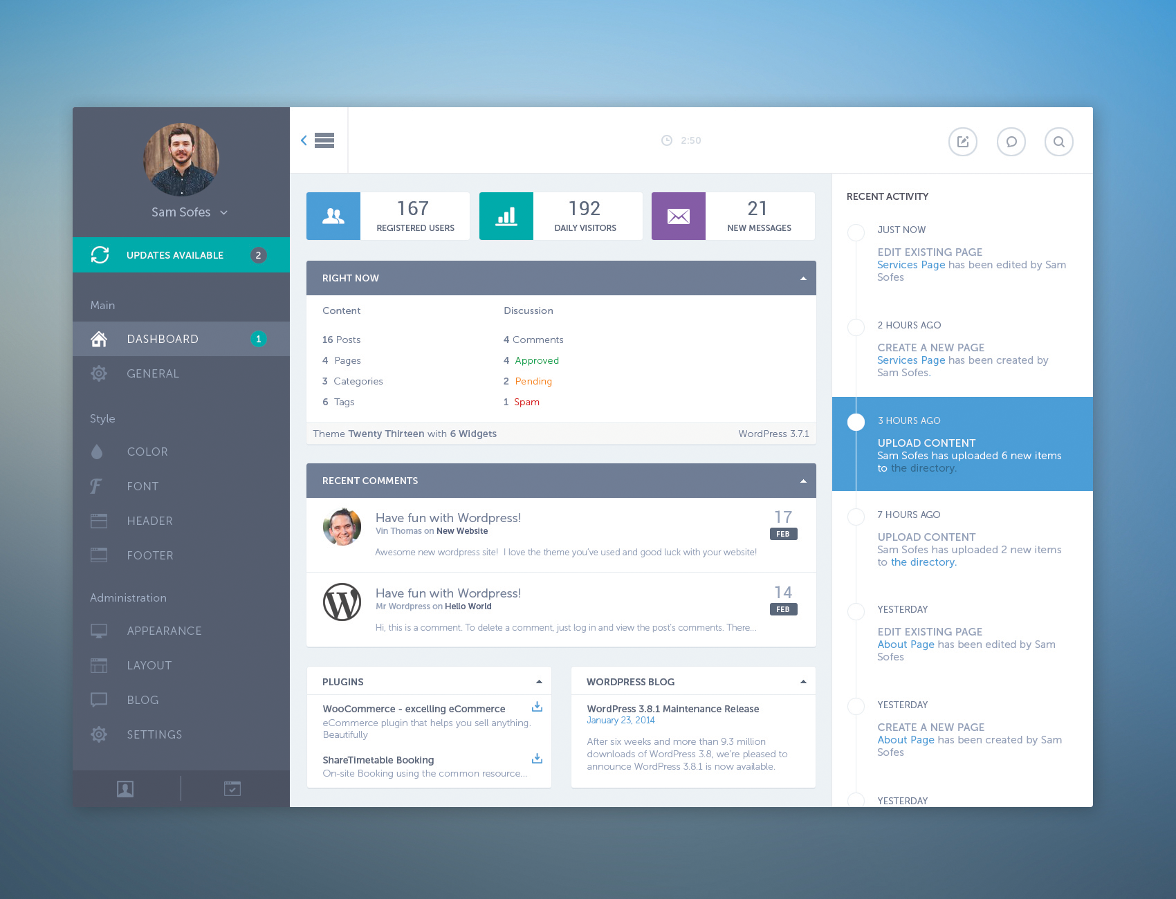 Dribbble - WDashboard-bigger.png by Connor Murphy   UI/UX ...