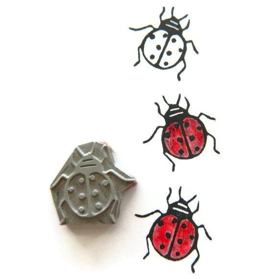 Luck Be A Ladybug Stamp Cling Rubber