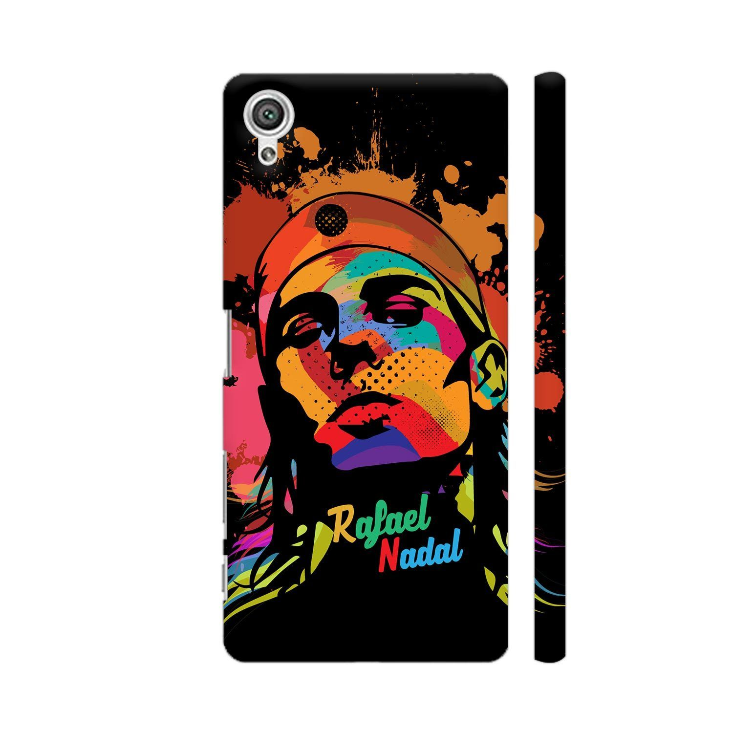 Rafael Nadal Painting On Black Sony Xperia X Cover