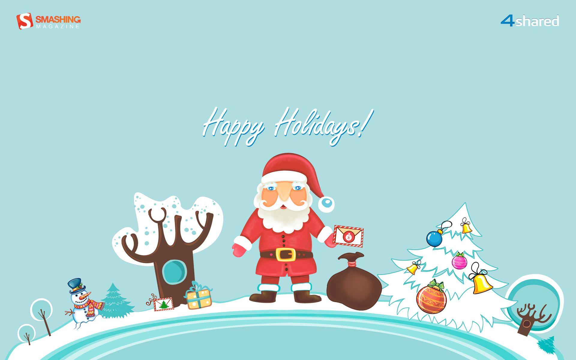 1920x1200 Happy Holidays Christmas Wallpaper Pinterest