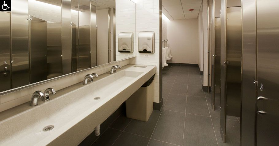 Concrete Trough Sinks For The Public Restroom Design Restrooms Pinterest Bathroom