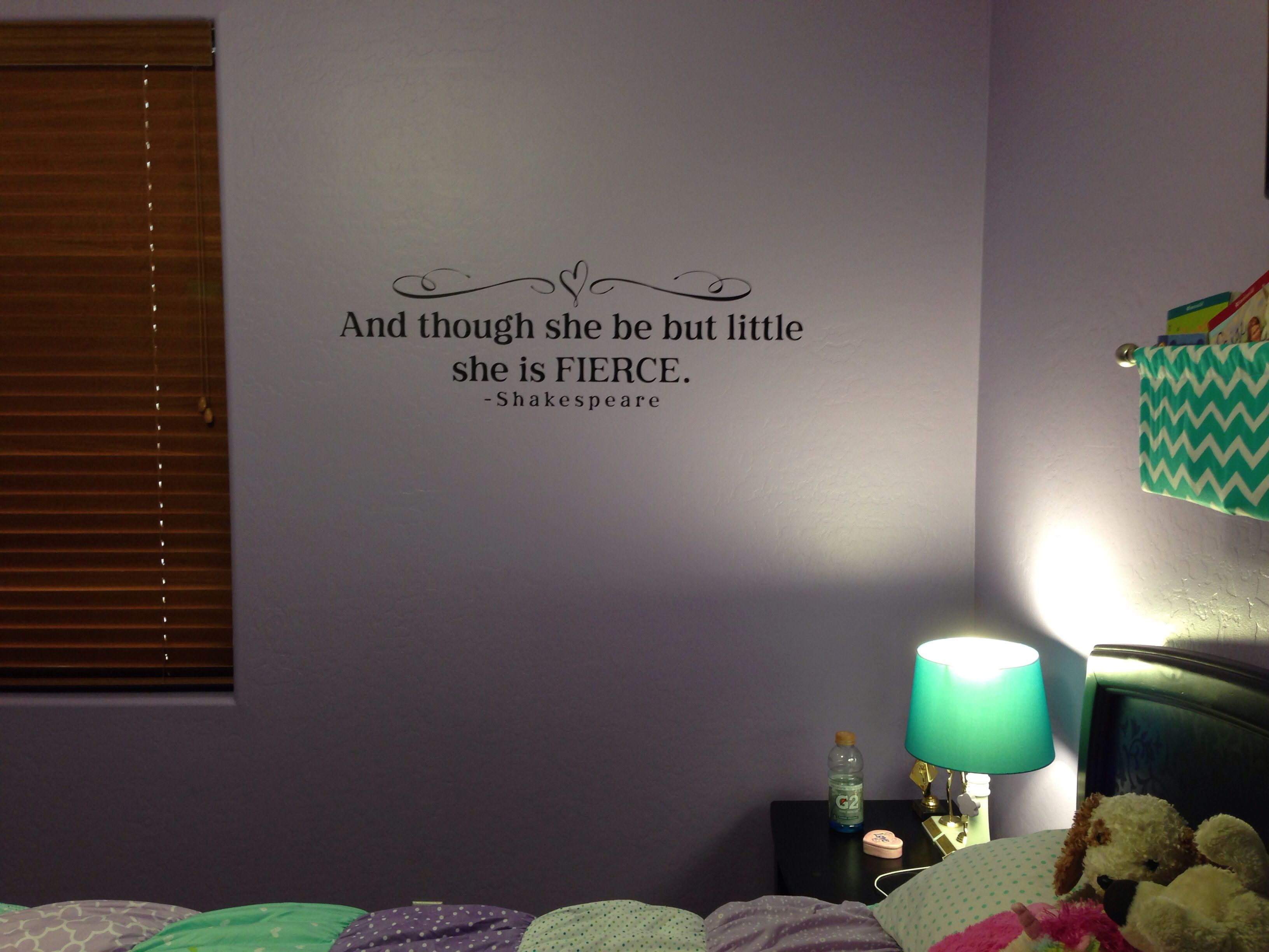 The Perfect Quote On Her Bedroom Wall Perfection Quotes She Quotes