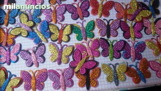 . mariposas en troqueladas en goma eva  10 mariposas por 1�