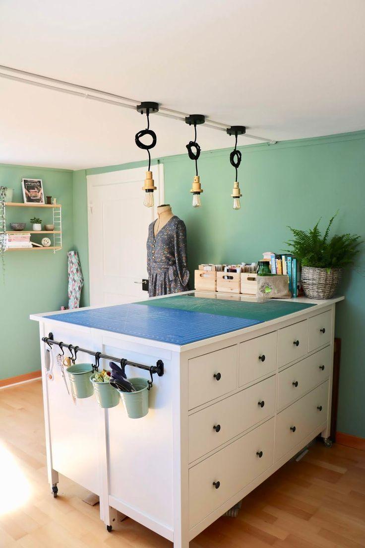 zuschneidetisch aus zwei hemnes kommoden von ikea. Black Bedroom Furniture Sets. Home Design Ideas
