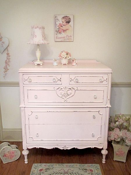 Precious Pink Antique Chest Of Drawers For The Home