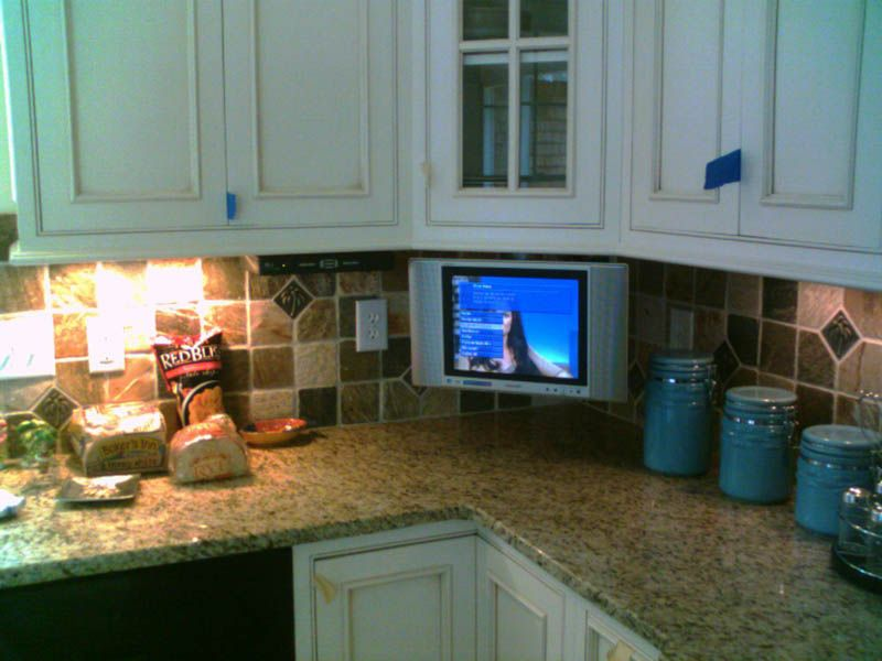 Yep Like This Tv In Kitchen Best Kitchen Designs Kitchen Remodel Cost