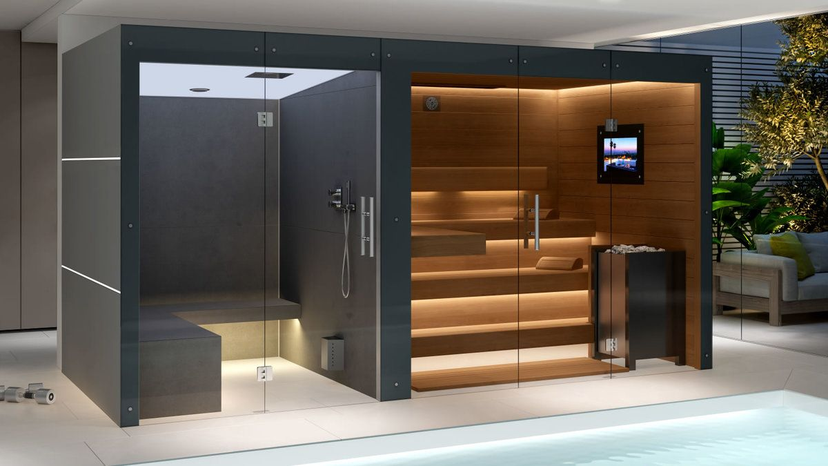 Sauna Dampfbad Kombination