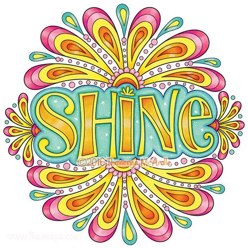 Shine Coloring Page From Thaneeya McArdles Live For Today Book