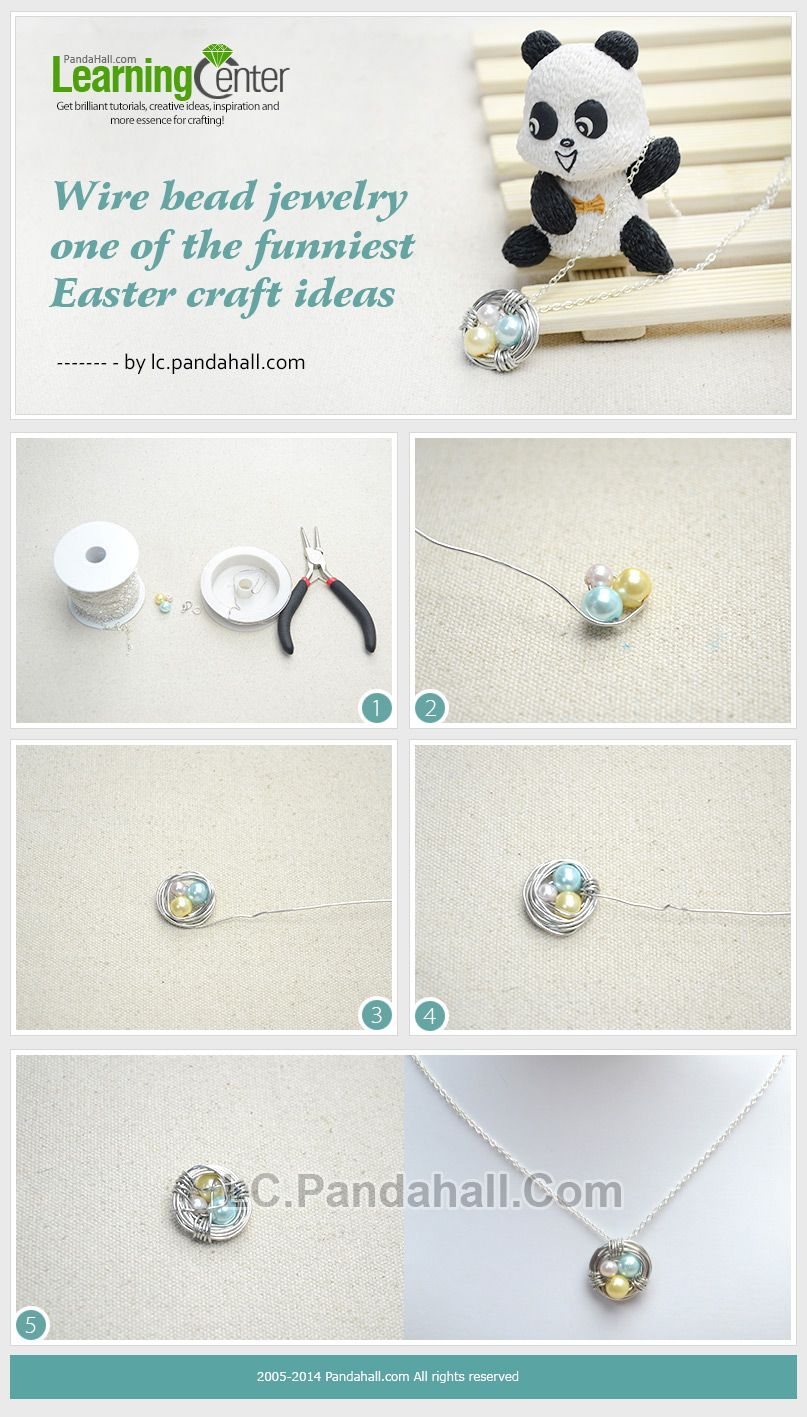 DIY Birds Nest Necklace – Making Jewelry with Wire and Pearl Beads ...
