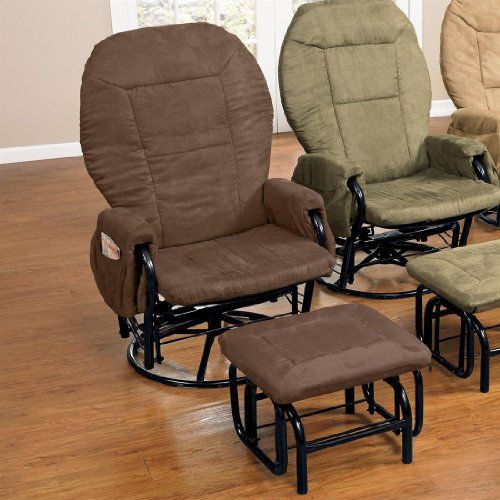 Plus Size Living Brylanehome Extra Wide Glider With Ottoman Brown