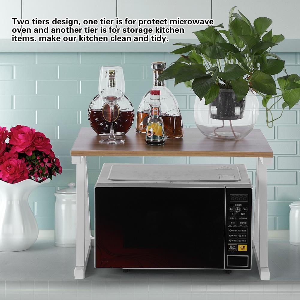 Counter Shelf Organizer,Yosoo 1Pc Microwave Oven Stand 2