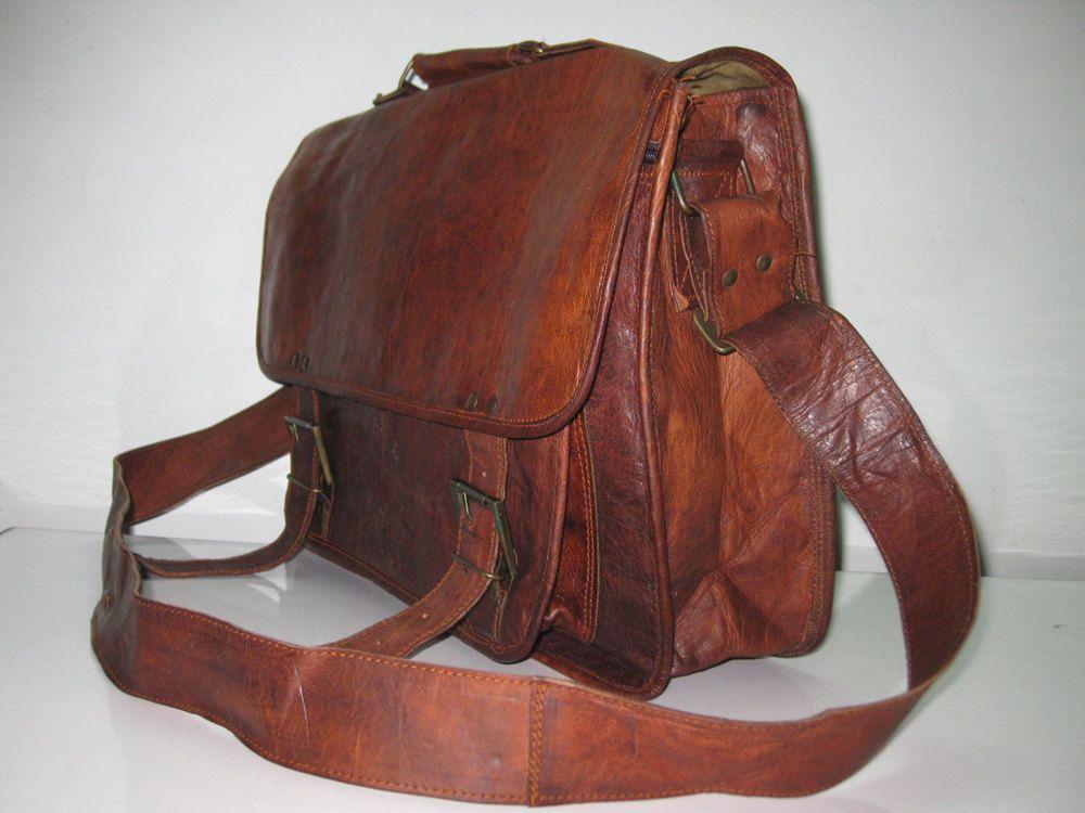 ff78167b2 Large Men's Laptop Bag Macbook Leather Messenger Bags 18 inches/inch Pure  Genuine Handmade Soft Leather Briefcase Shoulder Satchel Case. $99.00, via  Etsy.