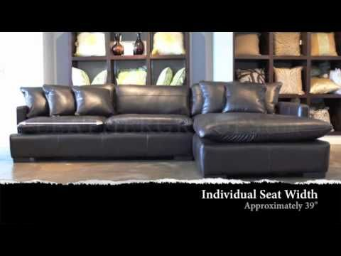 Reno Leather Sectional Sofa With Cuddler Top Grain My