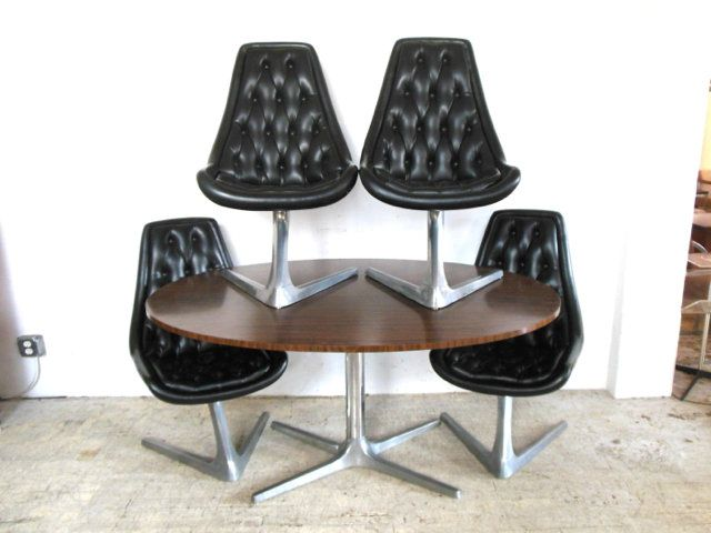 Original Vladimir Kagan For Chromcraft Dining Set In 143 Roebling Street Brooklyn NY 11211 Table ChairsDining
