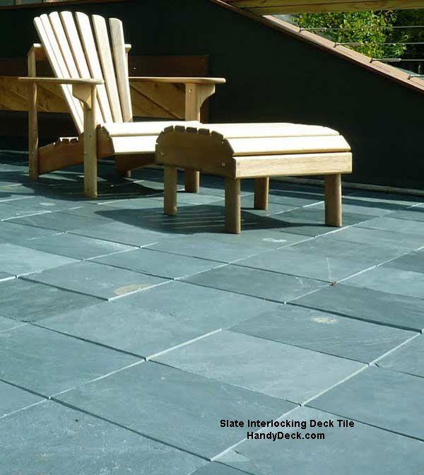 Interlocking Deck Tiles With Images Slate Patio Interlocking
