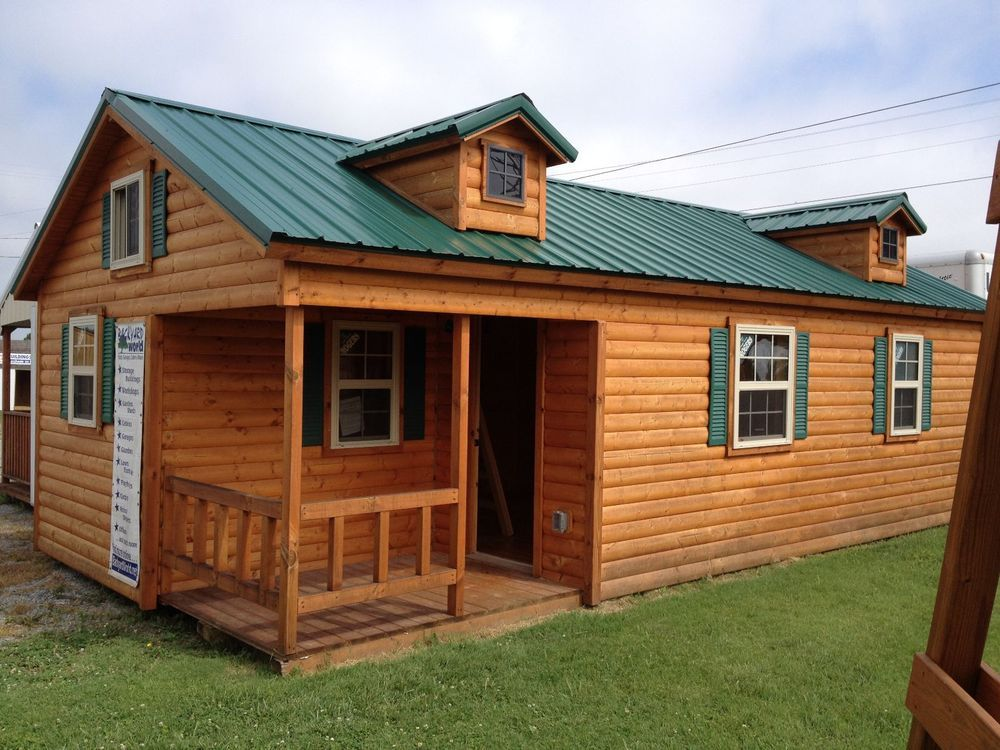 14x28 modular amish cabin move in ready true four seasons for Complete kit homes